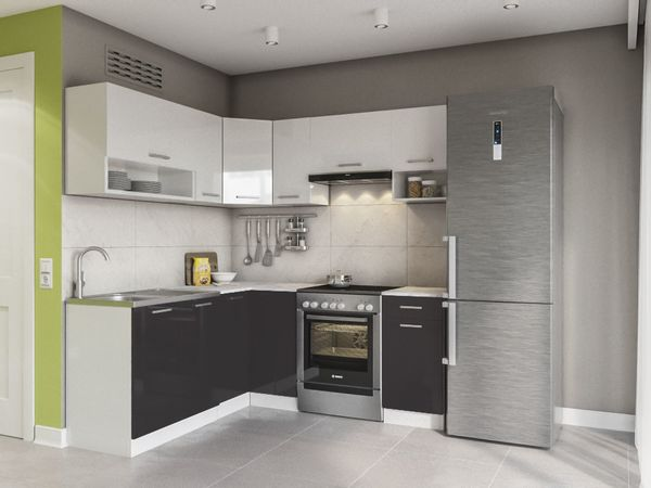 Küche lux hochglanz küchenmöbel schränke