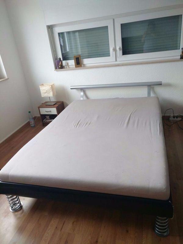 Bett 140x200 mit Kopfteil verstellbarer Lattenrost (zerlegbar ...