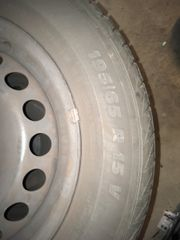 Reifen mit Stahlfelge