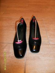 Brunate Lederballerinas, Größe38