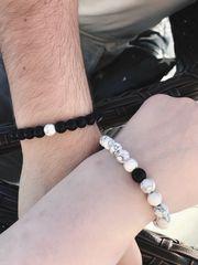 Partnerarmbänder Geschenk Perlen