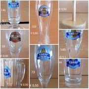 Gläser von Brauerei