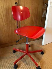 Bürostuhl Drehstuhl aus Holz Metall -