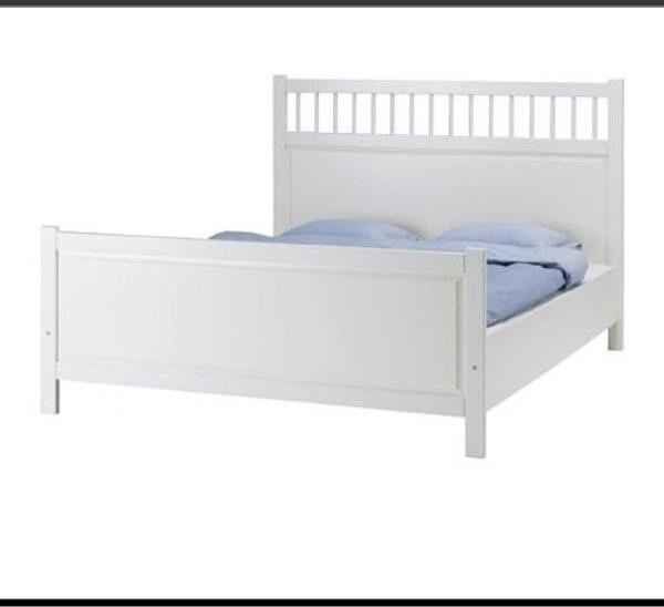 Bett weiß 180x200 ikea  Ikea Hemnes Bettgestell weiß 180x200 inklusive Lattenroste in ...