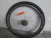Fahrrad Hinterrad schwarz 26 zoll