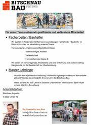 Maurerlehrling, Bauhelfer & Facharbeiter
