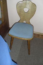 2 Stühle massiv Eiche