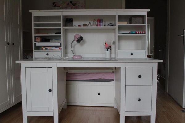Schreibtisch ikea hemnes  3 Ikea Hemnes Schreibtische mit Aufsätzen in München - IKEA-Möbel ...