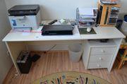 Schreibtisch und Rollcontainer alles gebraucht