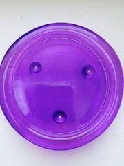 Lila Kerzenuntersetzer Glas
