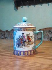 Krug - Tasse mit Deckel
