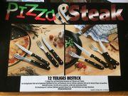 Pizza und Steak