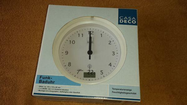 Uhr Für Badezimmer, funk-badezimmer- wand- uhr mit temperaturanzeige in leverkusen, Design ideen