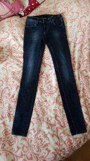 Glitzer röhren Jeans Gr 27