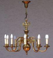 Antiker Kronleuchter Messing 10-flammig