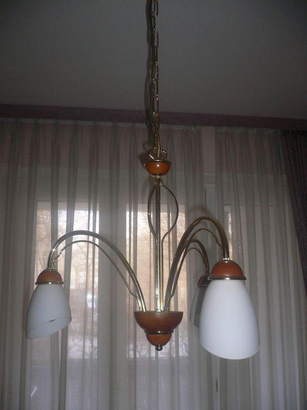 Pendelleuchte Luester Esszimmerleuchte Haengelampe Lampe Holz Metall