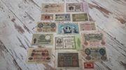 Konvolut alte Geldscheine
