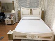 Bett gold weiss schlafzimmer exlusiv