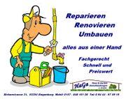 Reparaturen - Renovierungen - Umbau HaGa