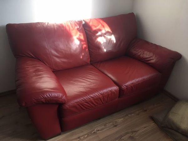 Ikea Sofa Rot ~ Ledercouch rot ikea vreta sitzer echtes leder top zustand in