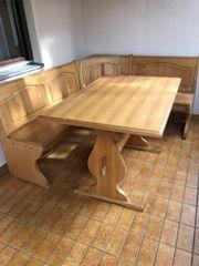Holz-Eckbank ohne
