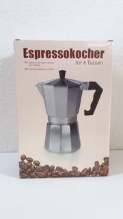 Espressokocher für 6