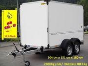 Anhängerverleih Kofferanhänger 2500 kg Anhängervermietung