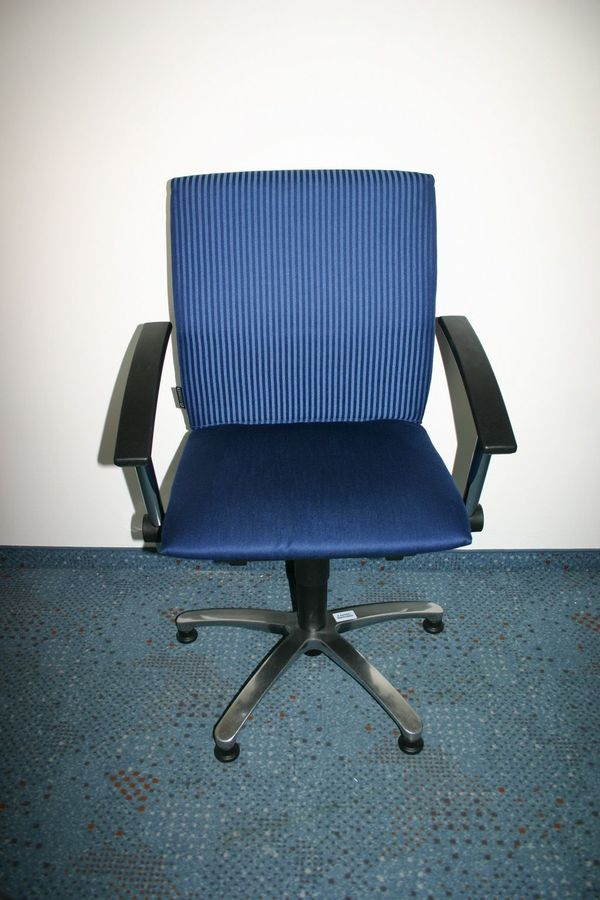 Exklusiver Konferenzstuhl In Blau Von Grammer Gebraucht In
