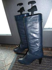 Hochwertige Nappa- Leder- Stiefel in
