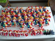 32 Stoff-Clowns,