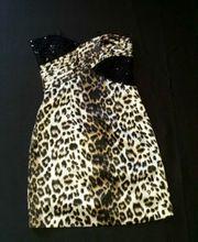 Abendkleid Leopard Mini