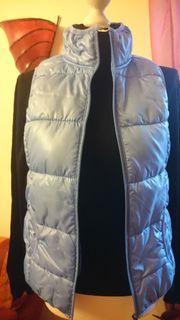 Hellblaue Steppweste Damen Gr 36