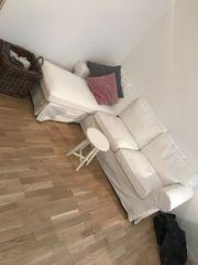 Weißes Eck Sofa