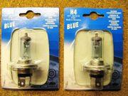2x H4 Blue