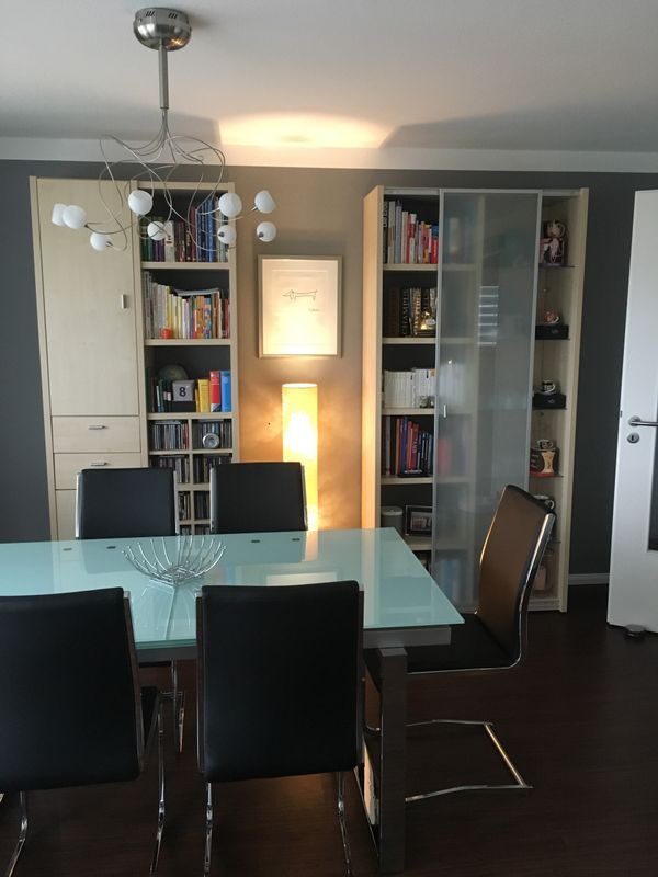 Wohnwand TV Möbel und Wohnzimmertisch 4-teilig Ahorn TOP Zustand ...