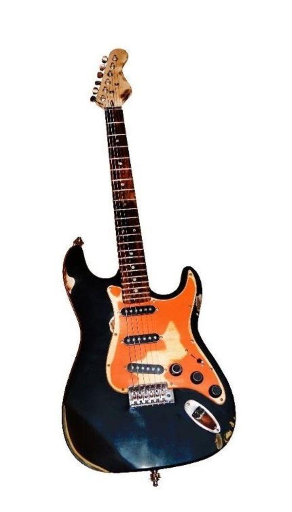 E-Gitarre Custom used look Strat Vintage in Eppelheim - Gitarren ...