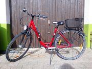 Fahrrad rot, Damen,