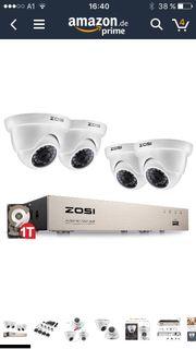 Video Überwachungssystem mit 4 HD-Kameras