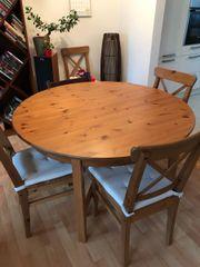 Esstisch Ausziehbar Holz 4 Stuhle