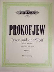 Klaviernoten Peter und der Wolf