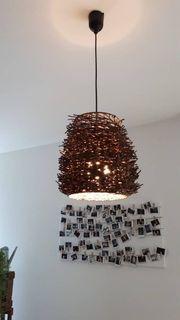 2 Lampen in Holzoptik