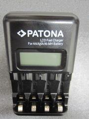 Patona LCD Schnellladegerät Akku Lader