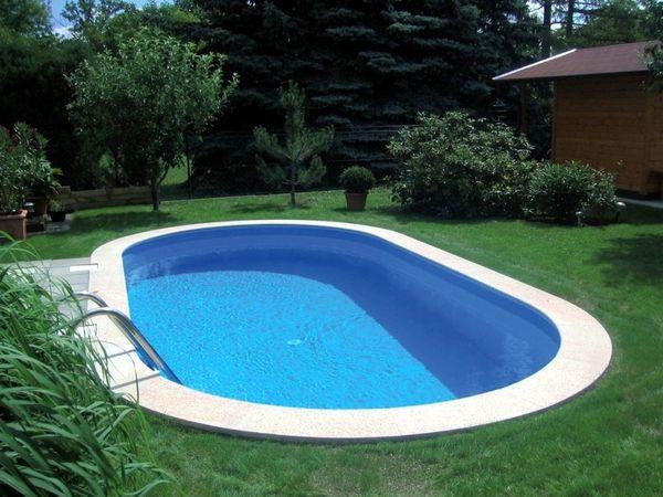 AIO Pool Oval z.B. 800x400x120cm Stahlwandpool Stahlwandbecken in ...