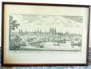 Speyer als Kupferstichbild im Rahmen