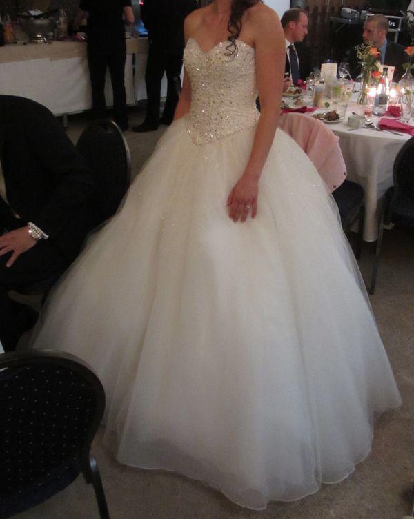 Princess-Brautkleid/Hochzeitskleid mit Strass/Glitzer, Perlen, Tüll ...