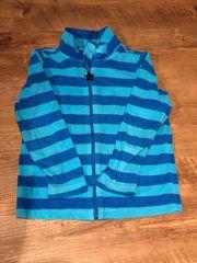 Weste blaue Streifen Größe 110