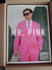 Pinker Anzug Größe 56 perfekt
