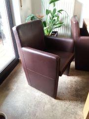 4 Sessel Kunstleder