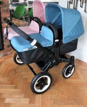 Blau und rosa Bugaboo Donkey