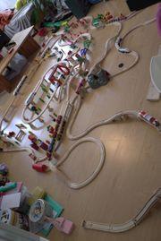 Holzeisenbahn Riesiges Set Konvolut Autos